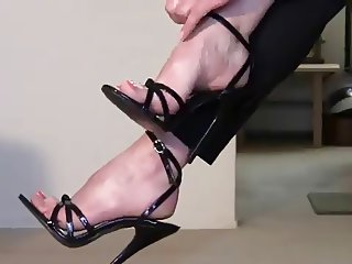 foot fetish stiletto boots mistress and slave