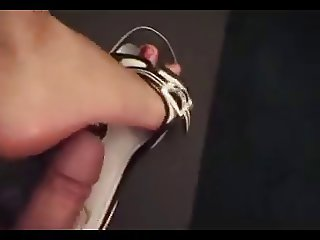 nice sandal shoejob with cumshot