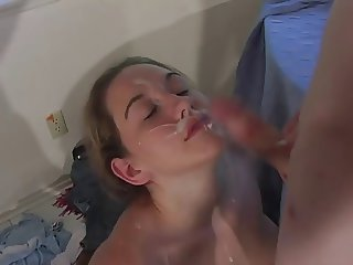 Cheerleader blows, takes facial for a spot on the squad
