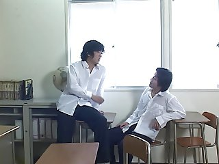 as244 - Japanese school teacher jousts 2 cocks together