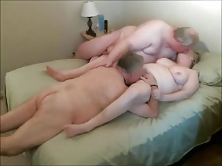 Grandma fucked by twoo grandpas