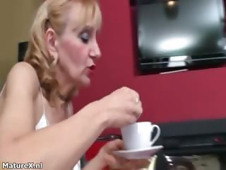 Dirty mature blonde slut goes crazy part1
