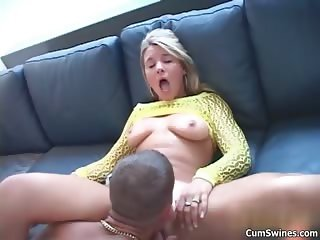 Hot blonde babe gets horny part3