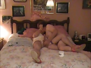 Crossdresser Kissed and Stroked by Married BF