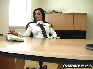 Kinky school teacher Carmen play weird part3