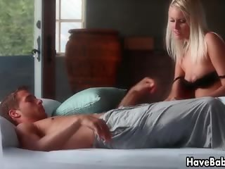 Sexy blonde babe gets horny making out part3