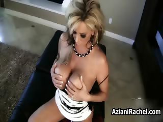 Busty blonde milf goes crazy rubbing part2
