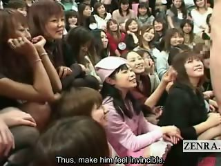 Subtitled gargantuan Japanese CFNM appreciation show