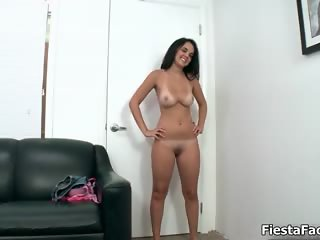 Sexy girl showing her nice tits during part3