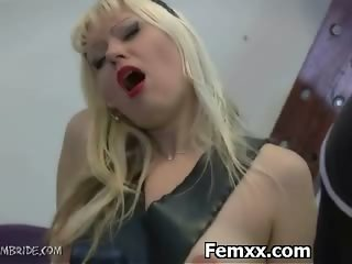 Submissive Femdom Mistress Sexy Teasing