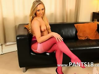 Pink nylon and pantyhose is my bang life