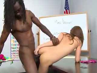 Black man fucks his awesome classmate