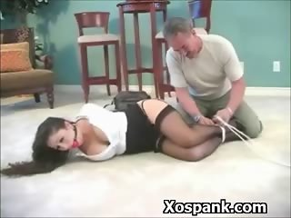 Pervert Bitch Spanked Wildly