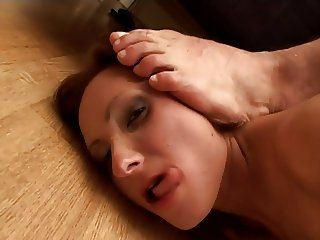 Old style porn star doing double anal