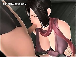 Hot hentai girl tit and mouth fucks big dick