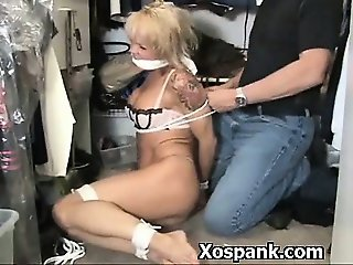 Spicy Bondage Hoe Spanked In Phat Azz