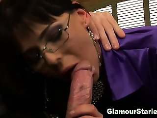Euro glamour hoe sucks dick