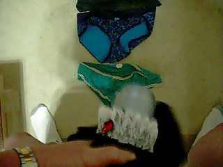 Cumming on clean and used underwear