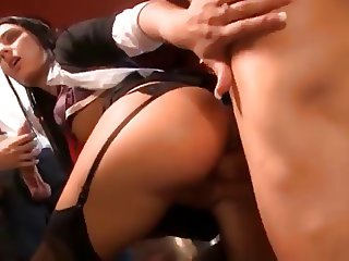 Papa - Dirty schol girl gets fucked
