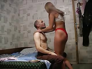 Good doughter pleasing her daddy