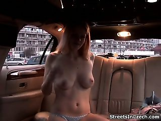 Naughty Czech girl showing her tits part4