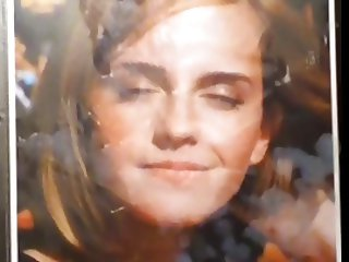 Emma Watson Double Facial with her Eyes Closed
