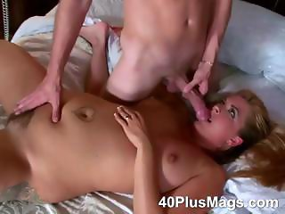 Beverly is a horny hairy blonde slut