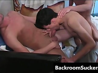 Orgy in Lounge free gay porn part4