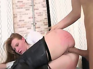 punished secretary with dick in butthole