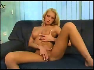 Sweet blonde masturbating