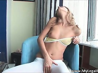 Stunning brunette Olga with nice tits part6