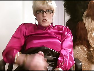 Pink Satin Blouse Crossdresser
