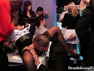 Group of hot party girls fucking in the part5