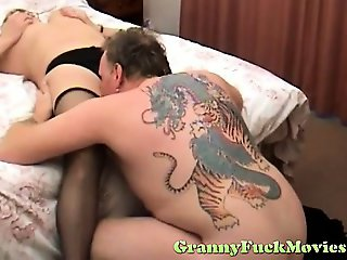 Granny and her bald old pussy