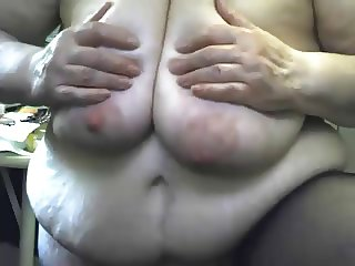 Crazy Grandma masturbating witn dildo and squirting