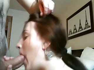 Cock Hungry Amateur Brunette,By Blondelover