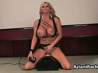 Busty blonde babe goes crazy riding part2