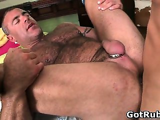 Lucky dude gets his stiff jizzster gay part4