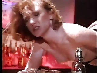 Freckled Redhead Flame Fucked On The Bar