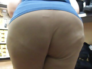 Chunky Brown Booty Bending Over & Over