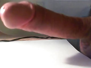 stroking my cock and cumming