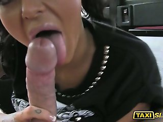 Stacy flashes her big boobs and railed
