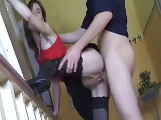 Pantyhose and Boots German Teen Fucked