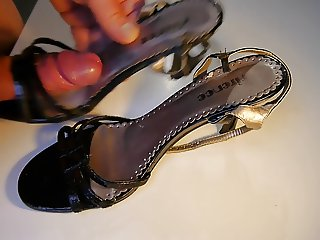 High Heels Job Sandals heavy cum