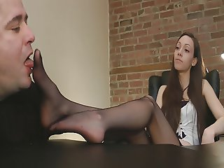 Cute girl in pantyhose smell worship 4