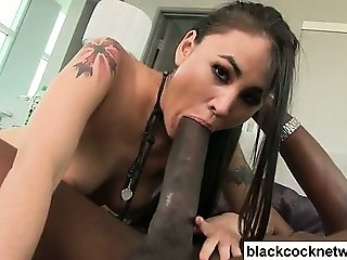 Asian babe in love with huge black dick