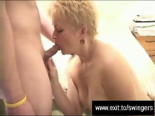 Tracey enjoys strangers cum and hubby filming