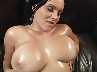 Brunette with big natural boobs