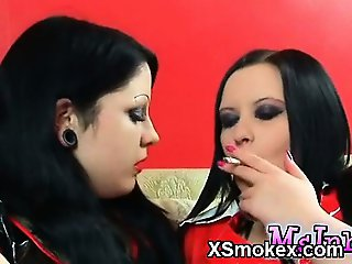 Marvelous Smoking Chick Hungry Porn