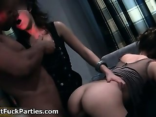 Sexy brunette babes get horny part3